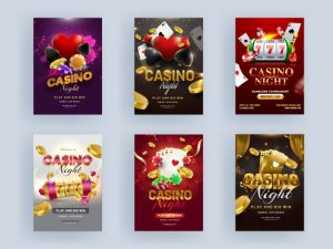 casino-night-party-flyer-design-with-3d-slot-machine-playing-cards-golden-coin-poker-chip-next88-แจกเครดิตฟรี-2020